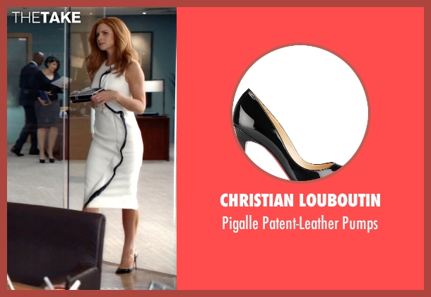 Christian Louboutin white pumps from Suits seen with Donna Roberta Paulsen (Sarah Rafferty)
