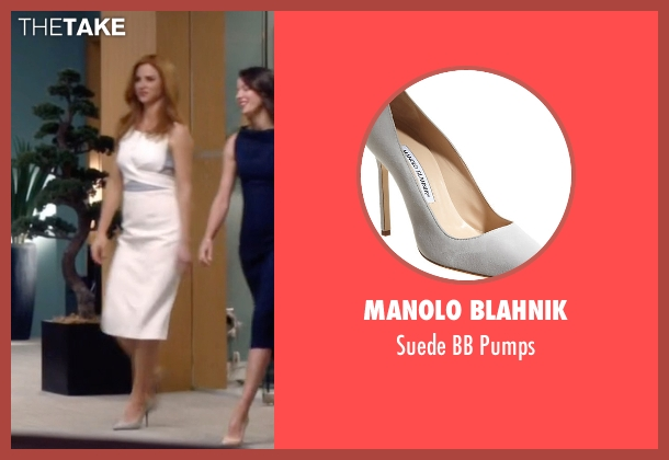 Manolo Blahnik white pumps from Suits seen with Donna Roberta Paulsen (Sarah Rafferty)