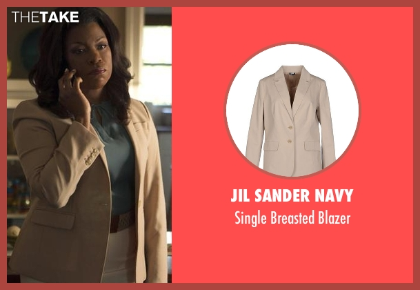 Jil Sander Navy beige blazer from Rosewood seen with Donna Rosewood (Lorraine Toussaint)