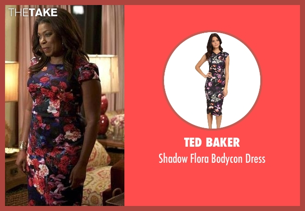 Ted Baker black dress from Rosewood seen with Donna Rosewood (Lorraine Toussaint)