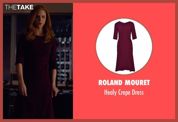 Roland Mouret red dress from Suits seen with Donna (Sarah Rafferty)