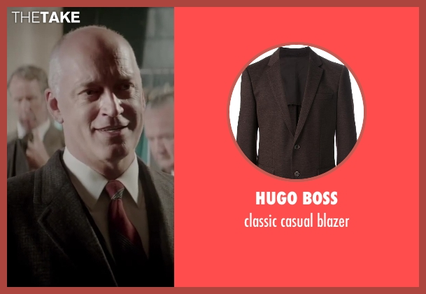 HUGO BOSS brown blazer from Jersey Boys seen with Donnie Kehr (Norm Waxman)