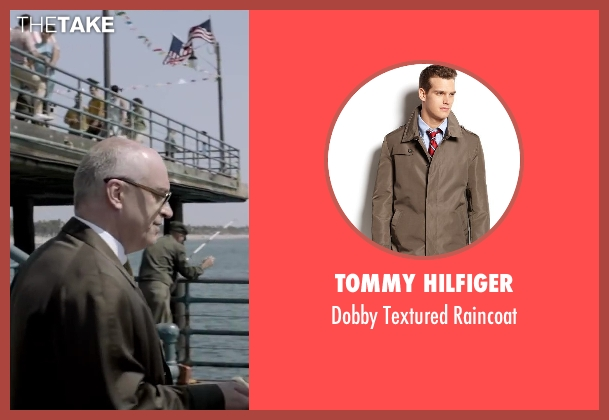 Tommy Hilfiger brown raincoat from Jersey Boys seen with Donnie Kehr (Norm Waxman)