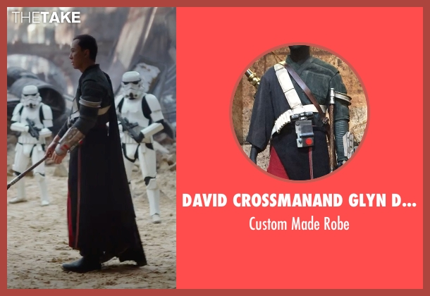 David Crossman	and Glyn Dillon (Costume Designers) robe from Rogue One: A Star Wars Story seen with Donnie Yen (Chirrut Îmwe)