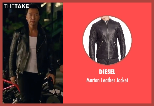 Diesel black jacket from xXx: Return of Xander Cage seen with Donnie Yen (Xiang)
