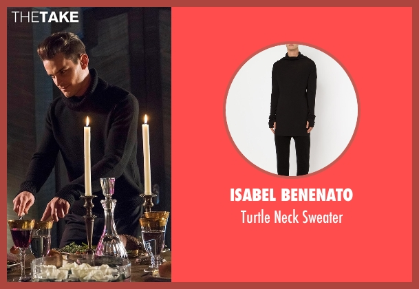 Isabel Benenato black sweater from American Horror Story seen with Donovan (Matt Bomer)