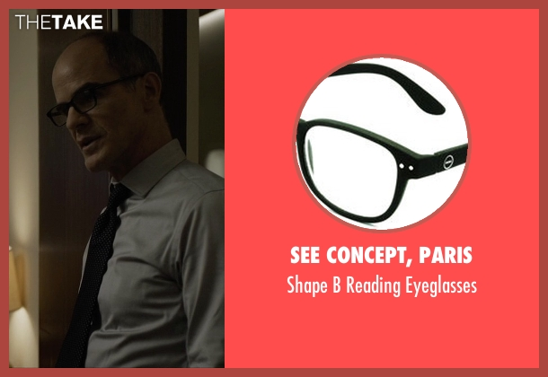 See Concept, Paris black eyeglasses from House of Cards seen with Doug Stamper (Michael Kelly)