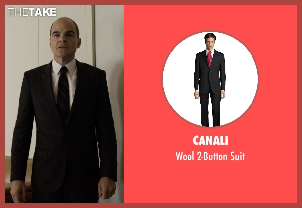Canali black suit from House of Cards seen with Doug Stamper (Michael Kelly)