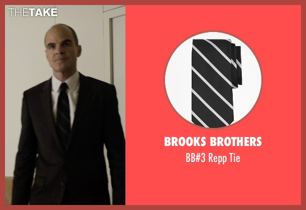 Brooks Brothers black tie from House of Cards seen with Doug Stamper (Michael Kelly)