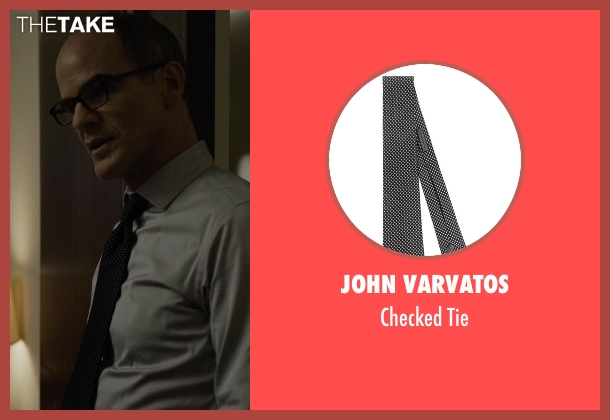 John Varvatos black tie from House of Cards seen with Doug Stamper (Michael Kelly)