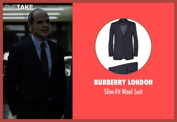 Burberry London blue suit from House of Cards seen with Doug Stamper (Michael Kelly)