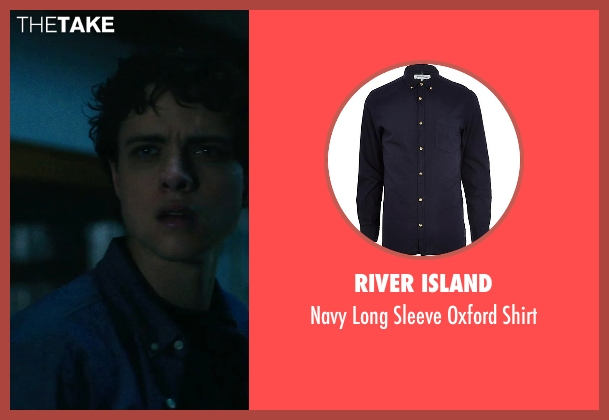 River Island blue shirt from Ouija seen with Douglas Smith (Pete)