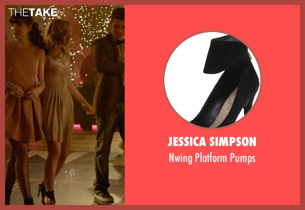 Jessica Simpson black pumps from Barely Lethal seen with Dove Cameron (Liz Larson)