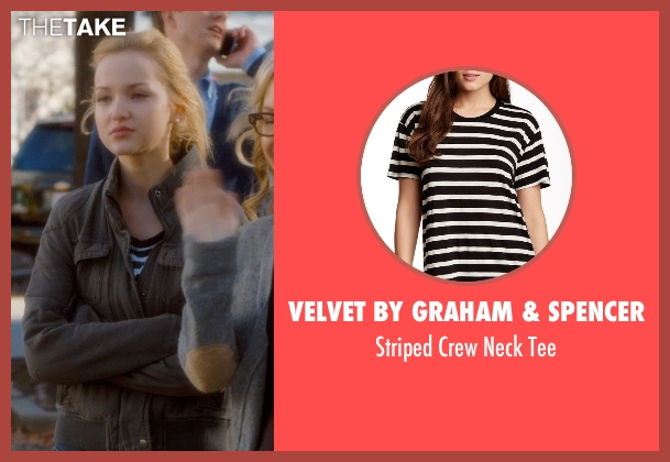 Velvet by Graham & Spencer black tee from Barely Lethal seen with Dove Cameron (Liz Larson)