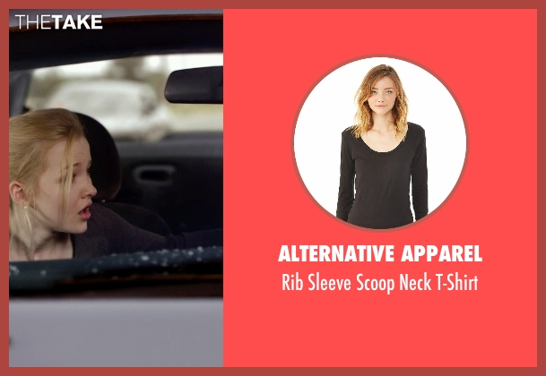 Alternative Apparel black t-shirt from Barely Lethal seen with Dove Cameron (Liz Larson)