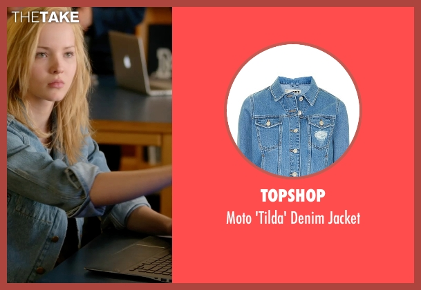 Topshop blue jacket from Barely Lethal seen with Dove Cameron (Liz Larson)