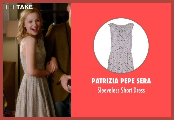 Patrizia Pepe Sera gray dress from Barely Lethal seen with Dove Cameron (Liz Larson)