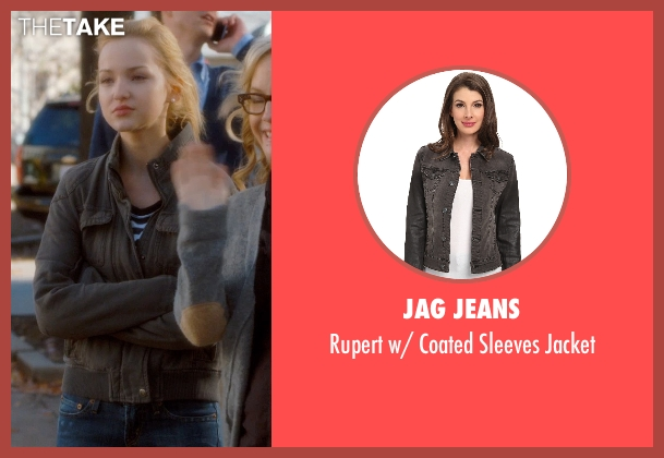 Jag Jeans gray jacket from Barely Lethal seen with Dove Cameron (Liz Larson)