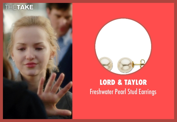 Lord & Taylor white earrings from Barely Lethal seen with Dove Cameron (Liz Larson)