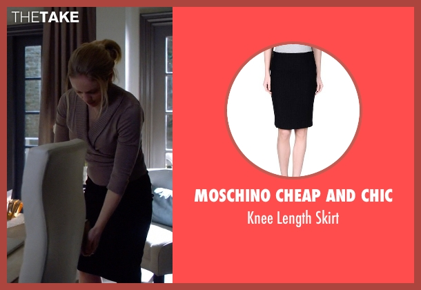 Moschino Cheap and Chic black skirt from Suits seen with Dr. Agrard (Christina Cole)