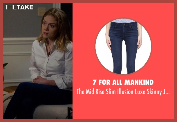 7 For All Mankind blue jeans from Suits seen with Dr. Agrard (Christina Cole)