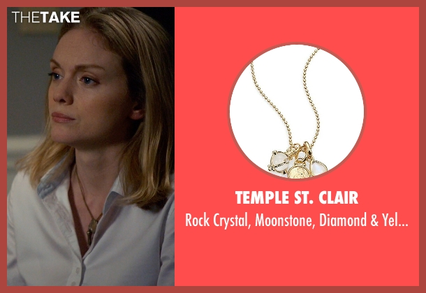 Temple St. Clair gold necklace from Suits seen with Dr. Agrard (Christina Cole)