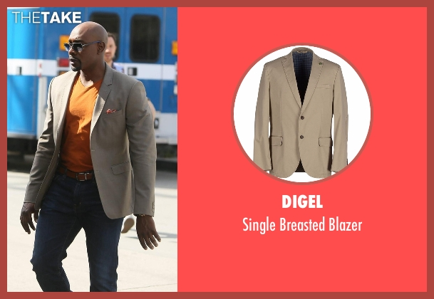 Digel beige blazer from Rosewood seen with Dr. Beaumont Rosewood, Jr. (Morris Chestnut)