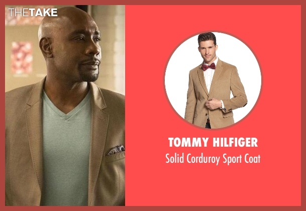 Tommy Hilfiger beige coat from Rosewood seen with Dr. Beaumont Rosewood, Jr. (Morris Chestnut)