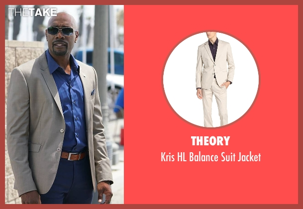Theory beige jacket from Rosewood seen with Dr. Beaumont Rosewood, Jr. (Morris Chestnut)