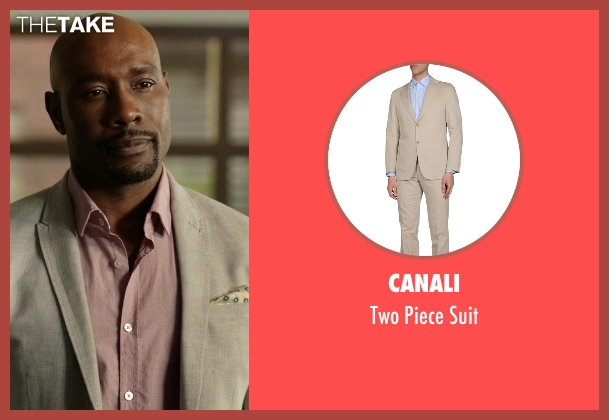 Canali beige suit from Rosewood seen with Dr. Beaumont Rosewood, Jr. (Morris Chestnut)