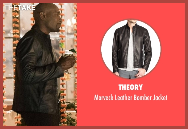 Theory black jacket from Rosewood seen with Dr. Beaumont Rosewood, Jr. (Morris Chestnut)