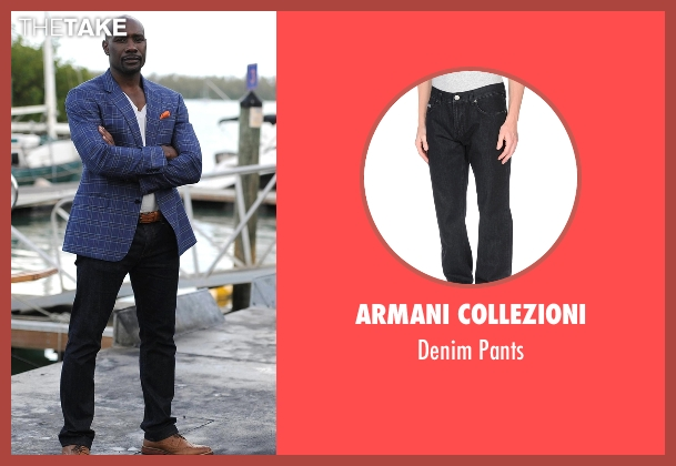 Armani Collezioni black pants from Rosewood seen with Dr. Beaumont Rosewood, Jr. (Morris Chestnut)
