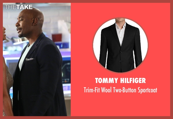Tommy Hilfiger black sportcoat from Rosewood seen with Dr. Beaumont Rosewood, Jr. (Morris Chestnut)