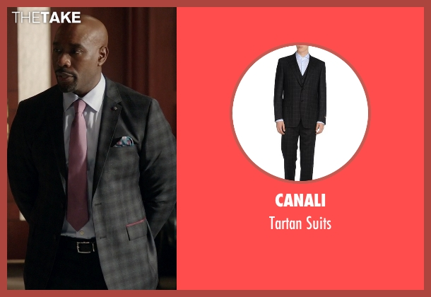 Canali black suits from Rosewood seen with Dr. Beaumont Rosewood, Jr. (Morris Chestnut)