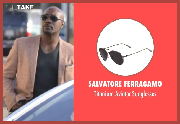 Salvatore Ferragamo black sunglasses from Rosewood seen with Dr. Beaumont Rosewood, Jr. (Morris Chestnut)