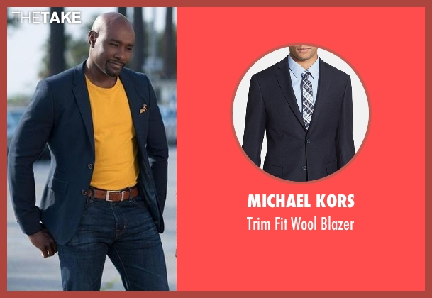 Michael Kors blue blazer from Rosewood seen with Dr. Beaumont Rosewood, Jr. (Morris Chestnut)