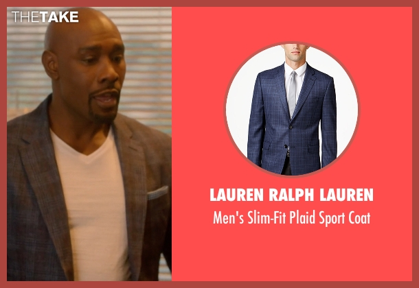 Lauren Ralph Lauren  blue coat from Rosewood seen with Dr. Beaumont Rosewood, Jr. (Morris Chestnut)