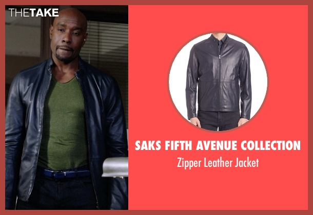 Saks Fifth Avenue Collection blue jacket from Rosewood seen with Dr. Beaumont Rosewood, Jr. (Morris Chestnut)