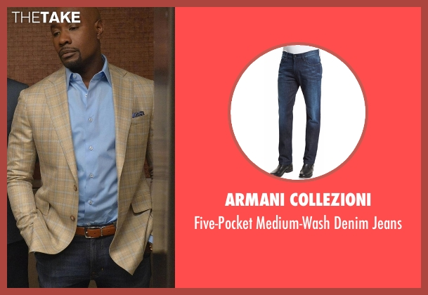 Armani Collezioni blue jeans from Rosewood seen with Dr. Beaumont Rosewood, Jr. (Morris Chestnut)