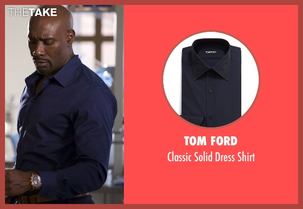 Tom Ford blue shirt from Rosewood seen with Dr. Beaumont Rosewood, Jr. (Morris Chestnut)
