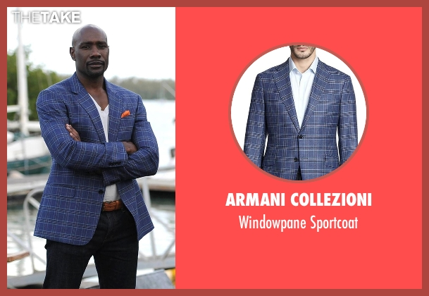 Armani Collezioni blue sportcoat from Rosewood seen with Dr. Beaumont Rosewood, Jr. (Morris Chestnut)