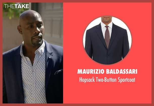 Maurizio Baldassari blue sportcoat from Rosewood seen with Dr. Beaumont Rosewood, Jr. (Morris Chestnut)