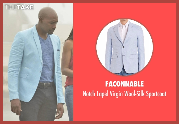 Faconnable blue sportcoat from Rosewood seen with Dr. Beaumont Rosewood, Jr. (Morris Chestnut)