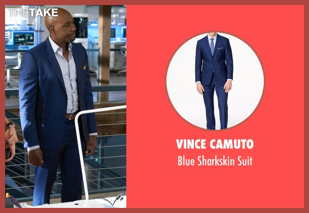 Vince Camuto blue suit from Rosewood seen with Dr. Beaumont Rosewood, Jr. (Morris Chestnut)