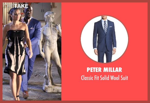 Peter Millar blue suit from Rosewood seen with Dr. Beaumont Rosewood, Jr. (Morris Chestnut)