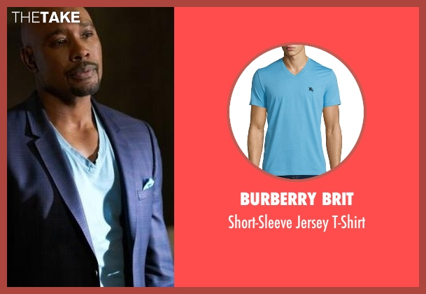 Burberry Brit blue t-shirt from Rosewood seen with Dr. Beaumont Rosewood, Jr. (Morris Chestnut)