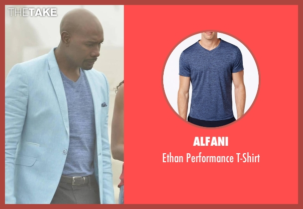 Alfani blue t-shirt from Rosewood seen with Dr. Beaumont Rosewood, Jr. (Morris Chestnut)