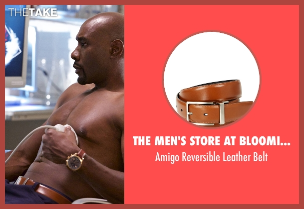 The Men's Store at Bloomingdale's brown belt from Rosewood seen with Dr. Beaumont Rosewood, Jr. (Morris Chestnut)
