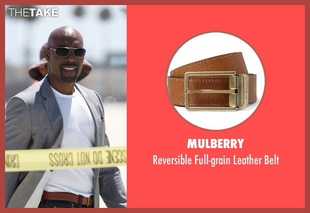 Mulberry brown belt from Rosewood seen with Dr. Beaumont Rosewood, Jr. (Morris Chestnut)