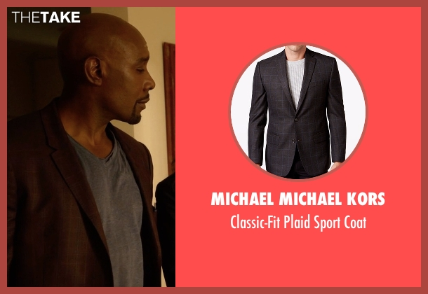 Michael Michael Kors brown coat from Rosewood seen with Dr. Beaumont Rosewood, Jr. (Morris Chestnut)